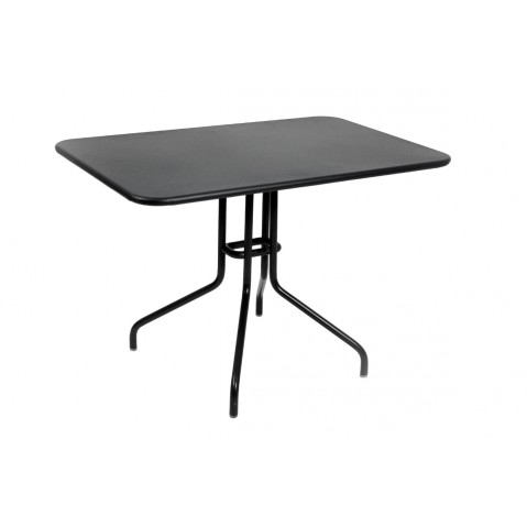 Table rabattable PÉTALE de Fermob 110 cm noir réglisse