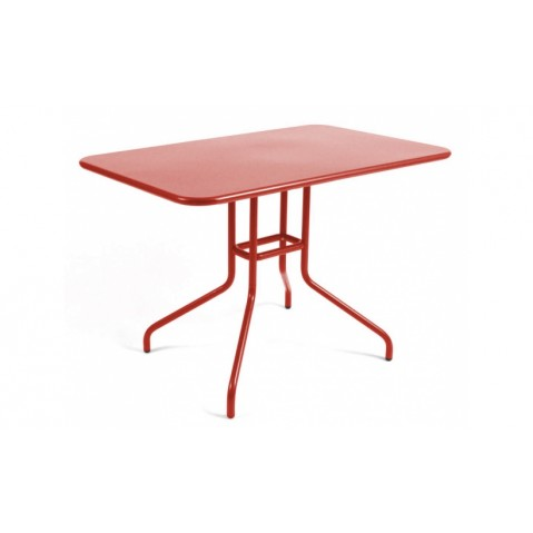 Table rabattable PÉTALE de Fermob 110 cm piment