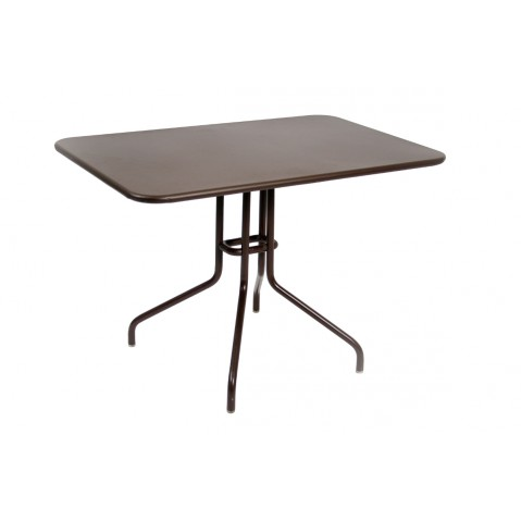Table rabattable PÉTALE de Fermob 110 cm rouille