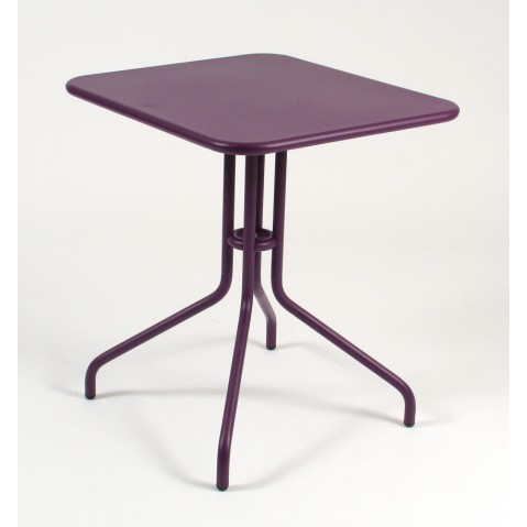 Table rabattable PÉTALE de Fermob 60 cm aubergine
