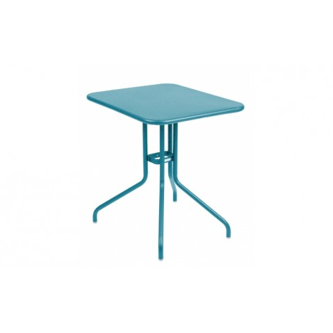 Table rabattable PÉTALE de Fermob 60 cm bleu turquoise