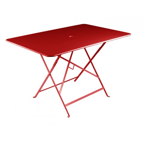 Table rectangulaire 117 x 77 cm BISTRO de fermob, Coquelicot