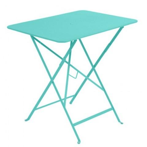 Table rectangulaire 77 x 57 cm Bistro de Fermob Bleu lagune