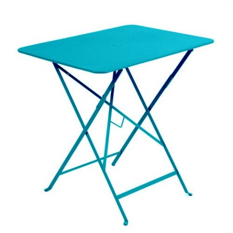 Table rectangulaire 77 x 57 cm Bistro de Fermob, Bleu turquoise