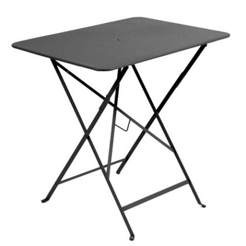 Table rectangulaire 77 x 57 cm Bistro de Fermob Carbone