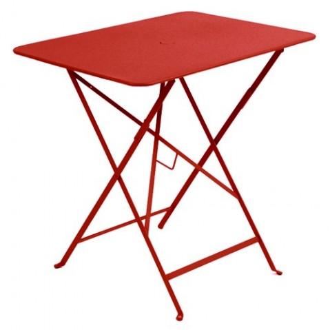 Table rectangulaire 77 x 57 cm Bistro de Fermob, Coquelicot