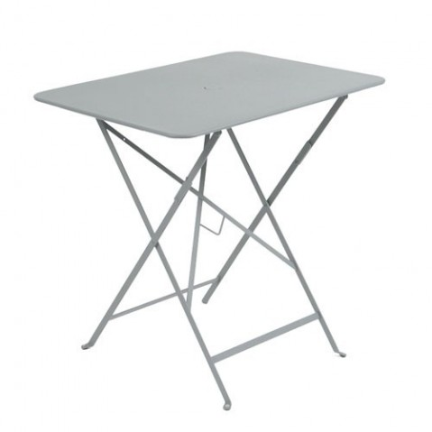 Table rectangulaire 77 x 57 cm Bistro de Fermob, Gris métal