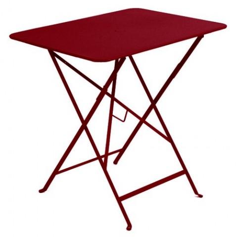 Table rectangulaire 77 x 57 cm Bistro de Fermob, Piment