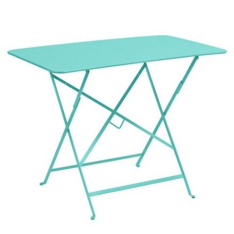 Table rectangulaire 97 x 57 cm  BISTRO de Fermob Bleu lagune