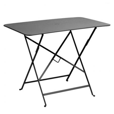 Table rectangulaire 97 x 57 cm BISTRO de Fermob Carbone