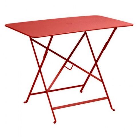Table rectangulaire 97 X 57 CM BISTRO de Fermob, Coquelicot