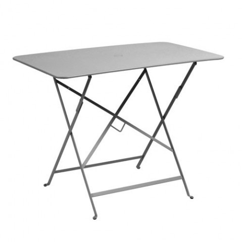 Table rectangulaire 97 X 57 CM BISTRO de Fermob, Gris métal