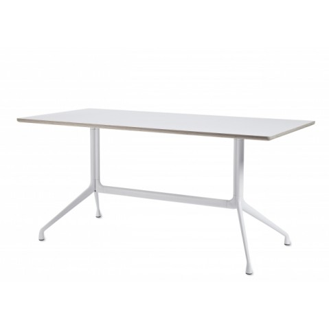 Table rectangulaire AAT10 de Hay, Blanc, L.220 x P.90 x H.73
