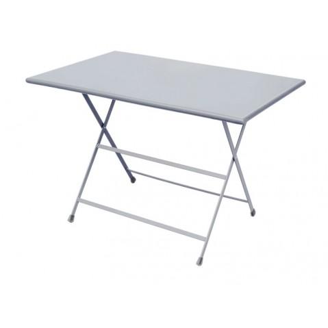 Table rectangulaire ARC EN CIEL de Emu 110 cm aluminium