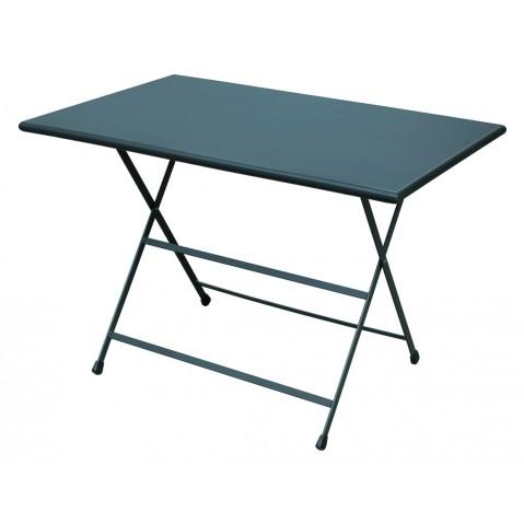 Table rectangulaire ARC EN CIEL de Emu 110 cm bleu