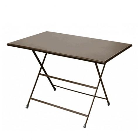 Table rectangulaire ARC EN CIEL de Emu 110 cm marron d'inde