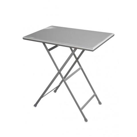 Table rectangulaire ARC EN CIEL de Emu 70 cm aluminium