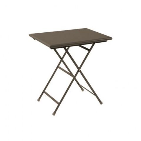 Table rectangulaire ARC EN CIEL de Emu 70 cm marron d'inde