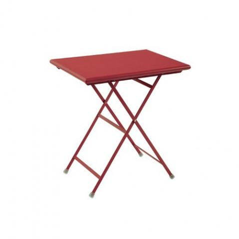 Table rectangulaire ARC EN CIEL de Emu 70 cm rouge