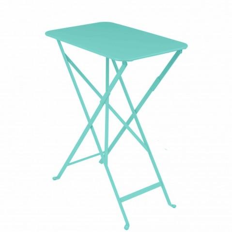 Table rectangulaire BISTRO 37 x 57 cm de Fermob, Bleu lagune