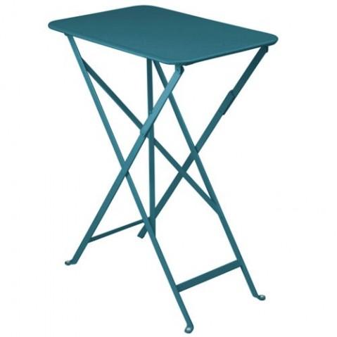 Table rectangulaire BISTRO 37 x 57 cm de Fermob, Bleu turquoise