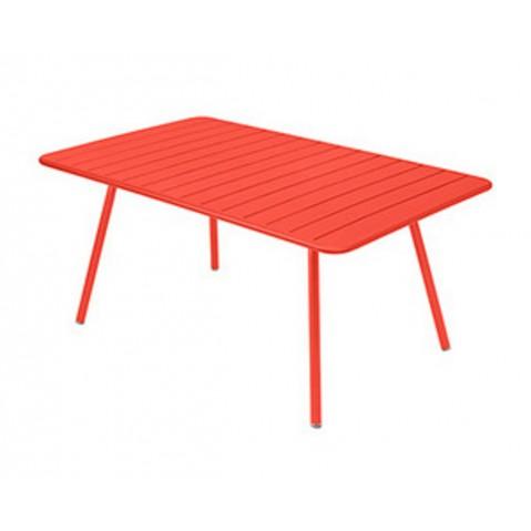 Table rectangulaire confort 6 LUXEMBOURG de Fermob,Capucine