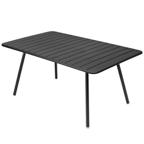 Table rectangulaire confort 6 LUXEMBOURG de Fermob, Carbone