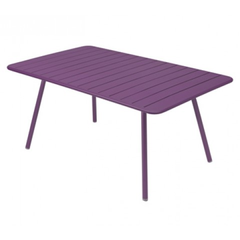 Table rectangulaire confort 6 LUXEMBOURG de Fermob, couleur aubergine