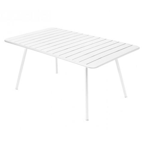 Table rectangulaire confort 6 LUXEMBOURG de Fermob, couleur blanc coton