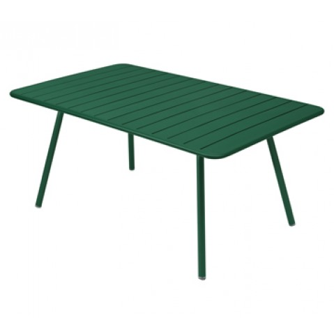Table rectangulaire confort 6 LUXEMBOURG de Fermob, couleur cèdre