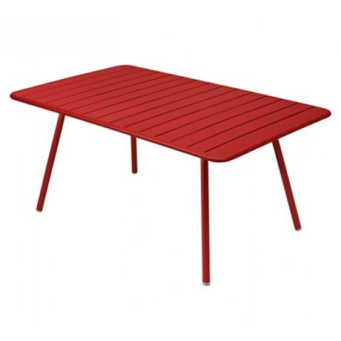 Table rectangulaire confort 6 LUXEMBOURG de Fermob, couleur coquelicot