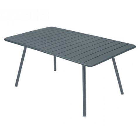 Table rectangulaire confort 6 LUXEMBOURG de Fermob, couleur gris orage