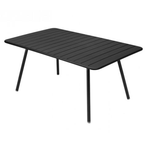 Table rectangulaire confort 6 LUXEMBOURG de Fermob, couleur réglisse