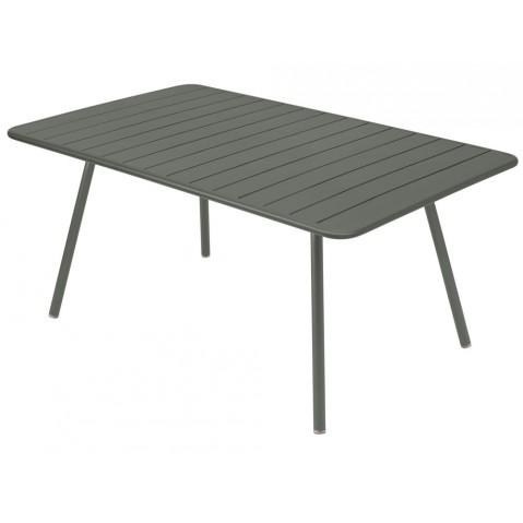 Table rectangulaire confort 6 LUXEMBOURG de Fermob, couleur Romarin