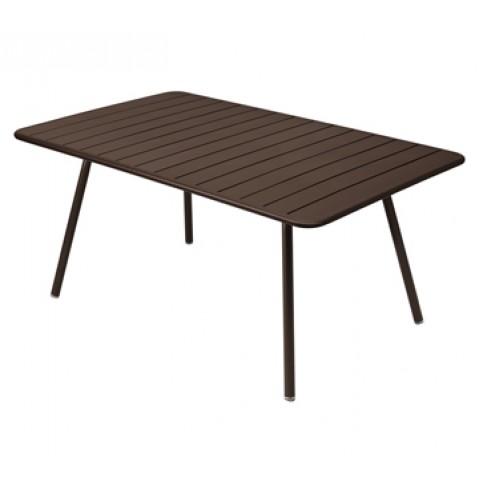 Table rectangulaire confort 6 LUXEMBOURG de Fermob, couleur rouille