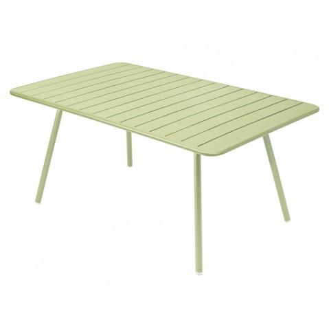 Table rectangulaire confort 6 LUXEMBOURG de Fermob, couleur Tilleul