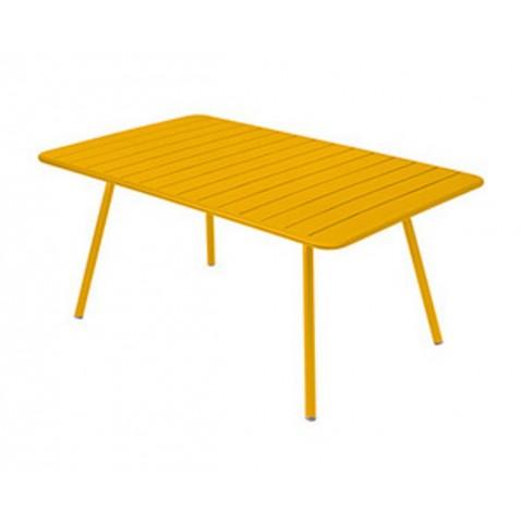 Table rectangulaire confort 6 LUXEMBOURG de Fermob, Miel