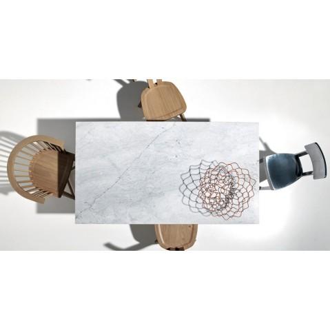 table rectangulaire inout de gervasoni l 240 plateau marbre blanc. Black Bedroom Furniture Sets. Home Design Ideas