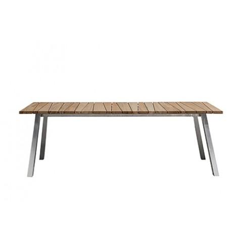 Table rectangulaire INOUT de Gervasoni, L. 240, plateau teck