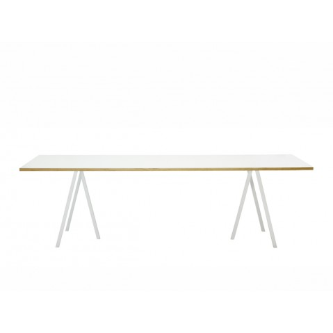 Table rectangulaire LOOP STAND de Hay, Blanc, L.180 x P.87.5 x H.74
