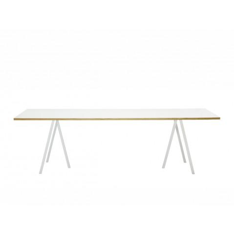 Table rectangulaire LOOP STAND de Hay, Blanc, L.180 x P.87.5 x H.74