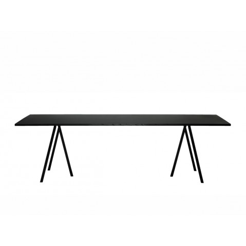 Table rectangulaire LOOP STAND de Hay, Noir, L.200 x P.92.5 x H.74