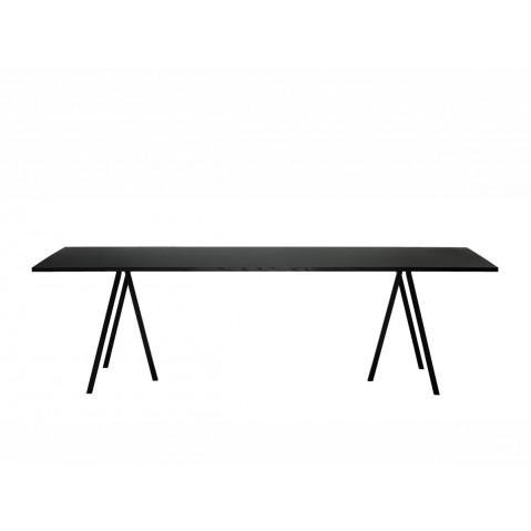 Table rectangulaire LOOP STAND de Hay, Noir, L.200 x P.92.5 x H.74