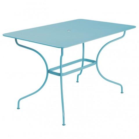 Table rectangulaire OPÉRA de Fermob, Bleu Turquoise