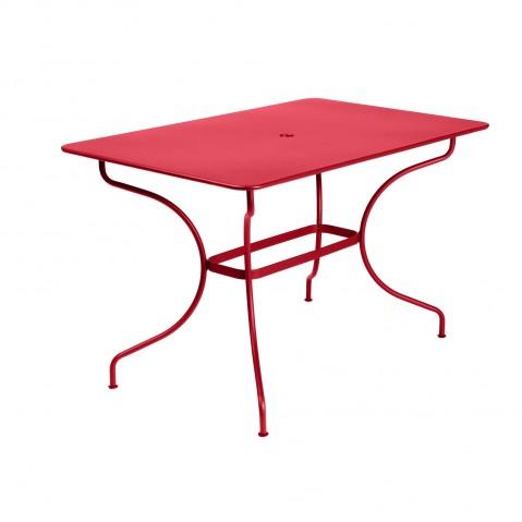 Table rectangulaire OPÉRA de Fermob coquelicot