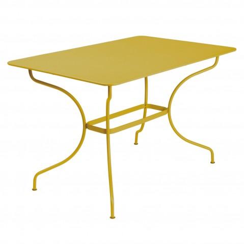 Table rectangulaire OPÉRA de Fermob, Miel