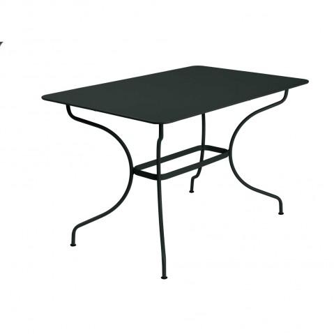 Table rectangulaire op ra de fermob noir r glisse - Fermob opera table ...