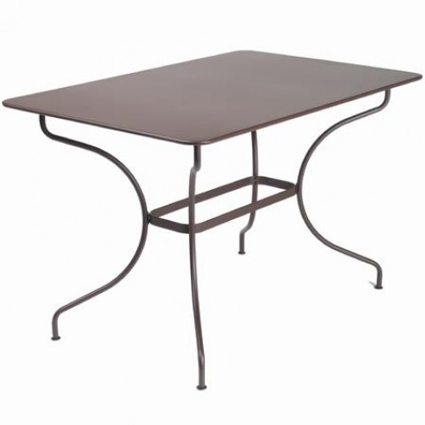 Table rectangulaire OPÉRA de Fermob, Rouille