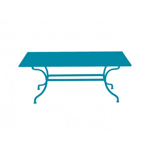 Table ROMANE 180 cm de Fermob bleu turquoise