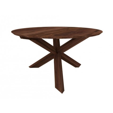 Table ronde 163x163x76 CIRCLE NOYER d'Ethnicraft,